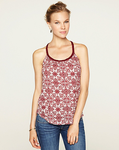 Deco Woodblock Jessica Tank Top*