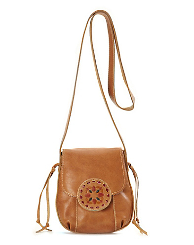 Del Mar Embossed Crossbody Bag