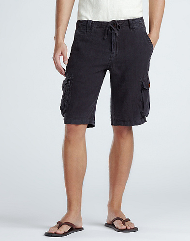 Del Mar Linen Cargo Shorts*
