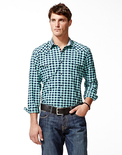 Del Norte Gingham Western Shirt