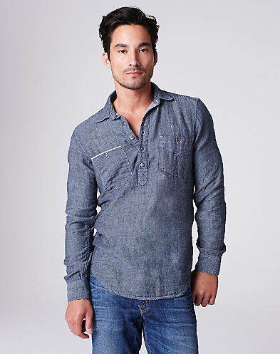 Denim Popover Shirt*