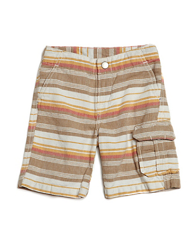 Echo Park Striped Linen Shorts