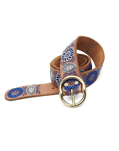 Eldora Flower Pod Embroidered Belt