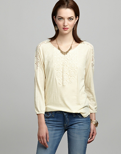 Elli Lace Inset Top*