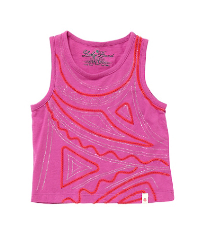 Embellished Geo Artwork Tank Top