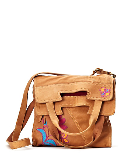 Embroidered Crossbody Convertible Bag