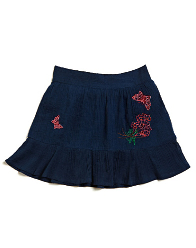 Embroidered Flounce Skirt*