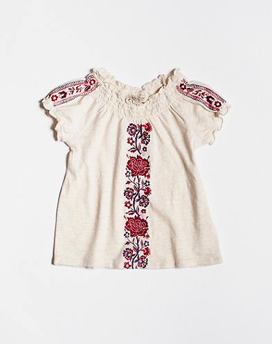 Embroidered Mena Top