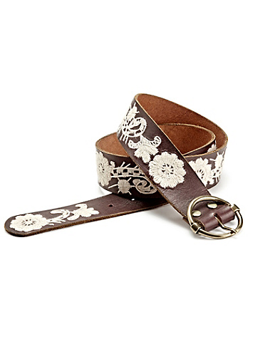 Embroidered Paisley Floral Belt
