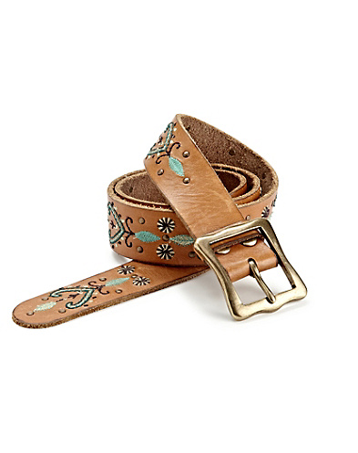 Embroidered Stud Belt