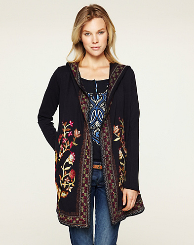 Embroidered Willow Coat