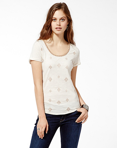 Embroidery Diamond T-Shirt