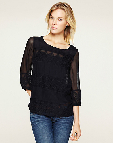 Empress Pieced Lace Top