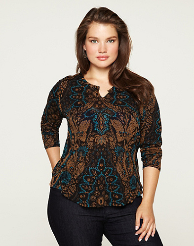 Exploded Damask Top
