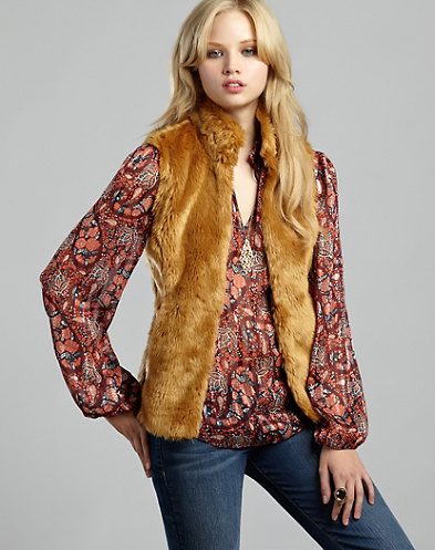 Faux Fur Vest*
