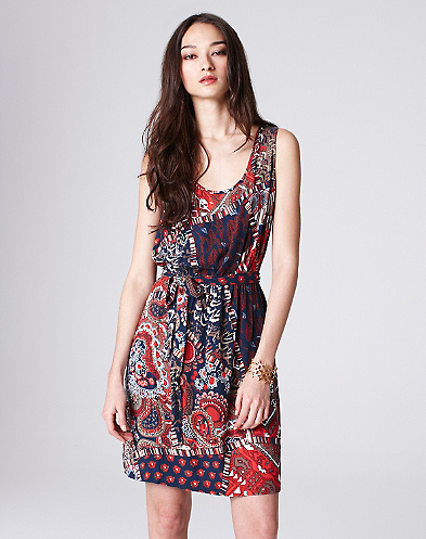 Feather Patchwork Cadiz Dress*
