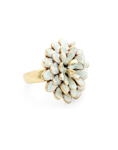 Floral Enamal Ring