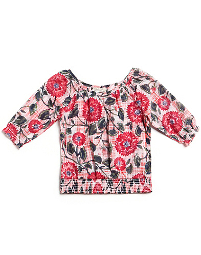 Floral Print Smocked Top