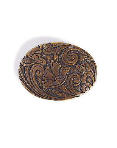 Floral Scroll Belt Buckle