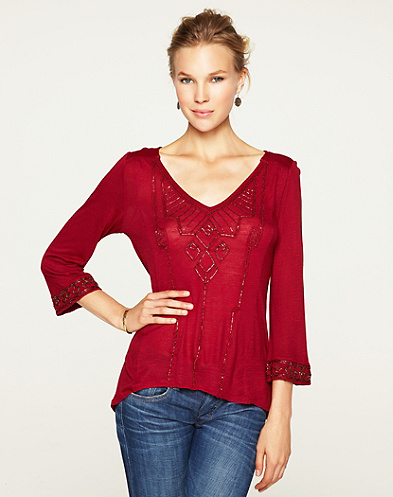 Flowy Beaded Top*