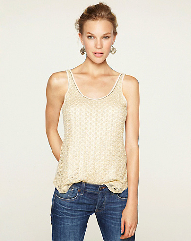 Gilded Lace Tank Top*