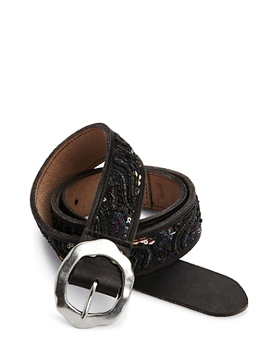 Gina Black Sequined Belt