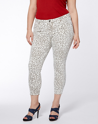 Ginger Cheetah Capri