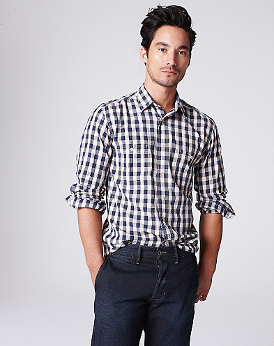 Gingham Dobby Workwear Shirt*