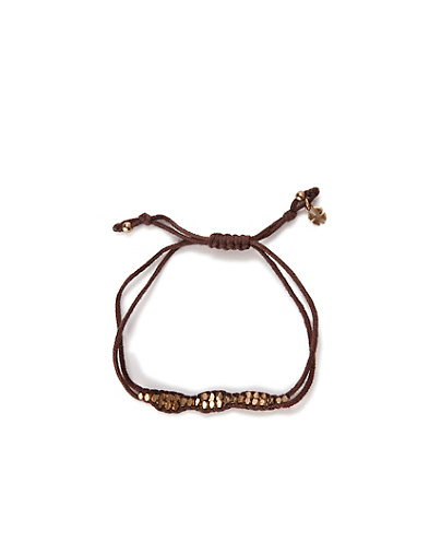 Gold Brown Slide Knot Bracelet*