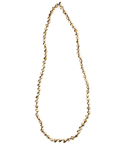 Gold Hammered Coin Necklace