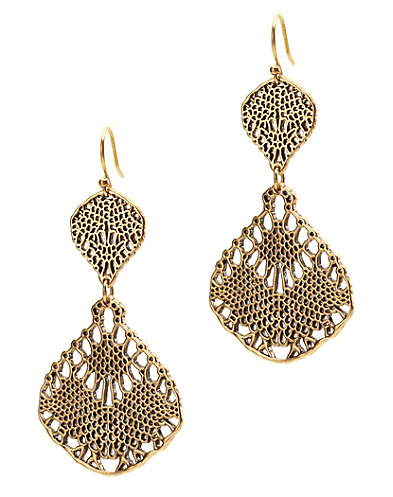 Gold Openwork Chandelier Earrings*