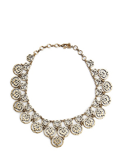 Gold Openwork Collar Necklace