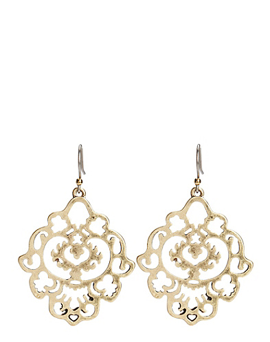 Gold Openwork Drop Earrings
