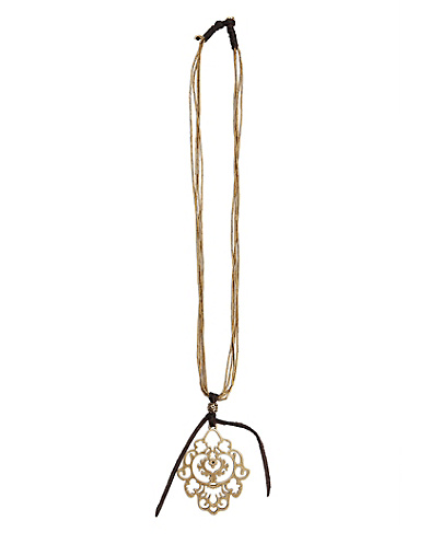 Gold Openwork Pendant Necklace*