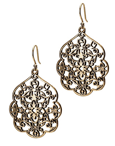Gold Thai Butterfly Earrings