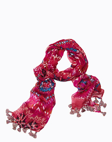 Grace Geometric Crinkle Scarf