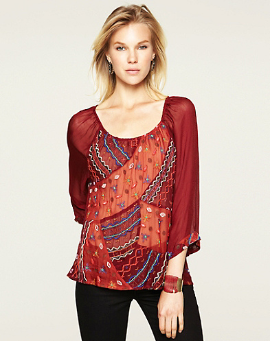 Grand Bazaar Embroidered Top*