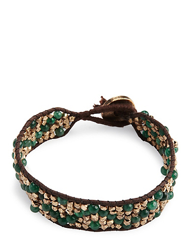Green Zig Zag Bracelet