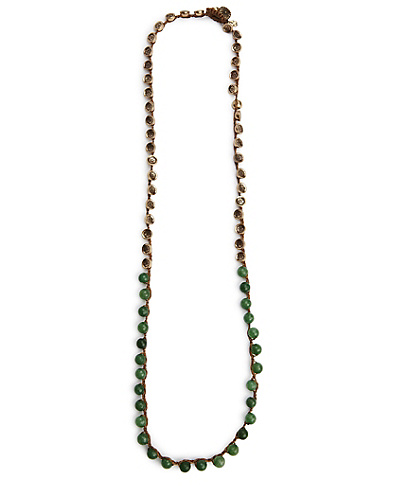 Green and Gold Colorblocked Necklace