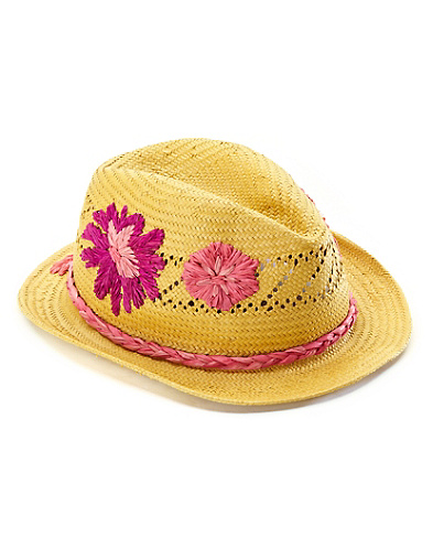 Halia Embroidered Floral Fedora*