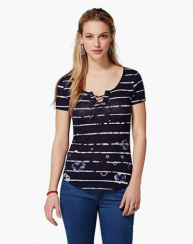 Hallie Shibori Striped T-Shirt