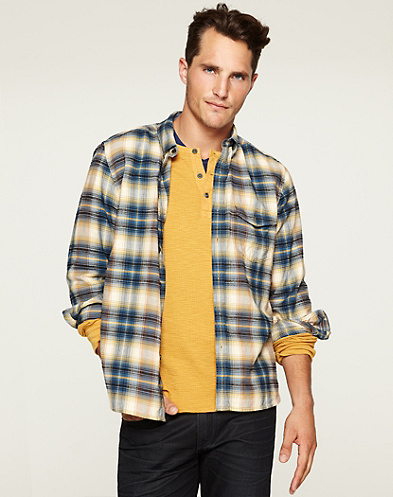 Hamburg Plaid One-Pocket Shirt*