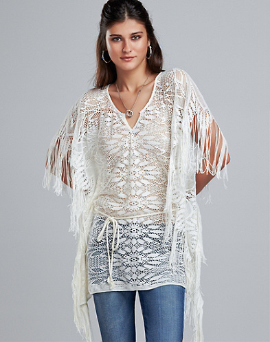 Harmony Fringed Poncho*