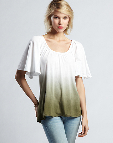 High Low Dip Dye Top*
