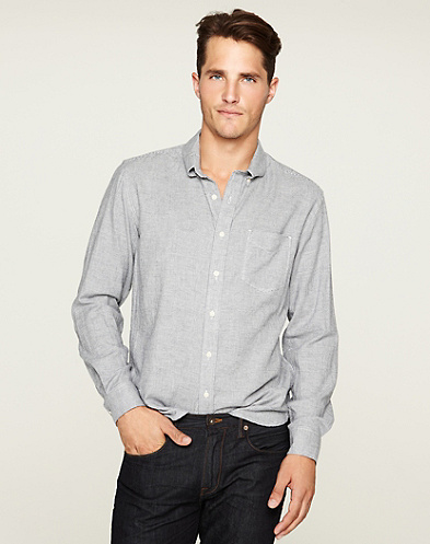 Houndstooth One-Pocket Shirt*