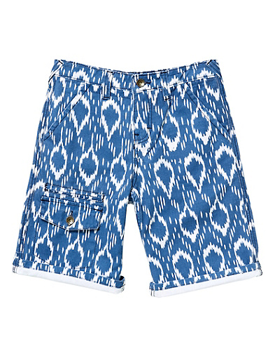 Ikat Printed Shorts