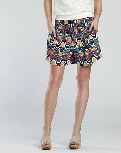 Ikat Printed Shorts*