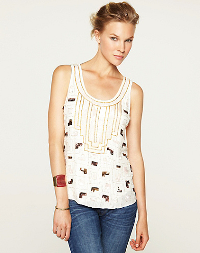 Imperial Palace Embellished Tank