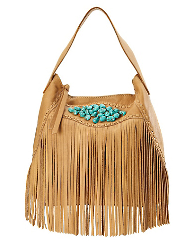 Indio Fringe Hobo Bag