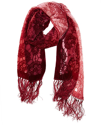 Irena Velvet Burnout Scarf